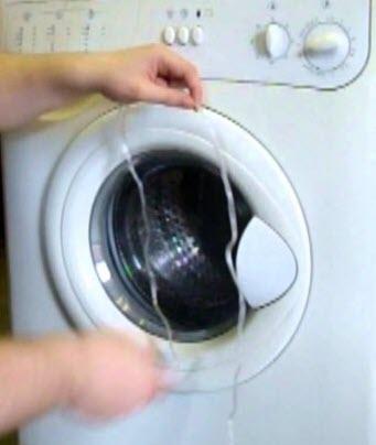 чиним ручку люка стиральной машины